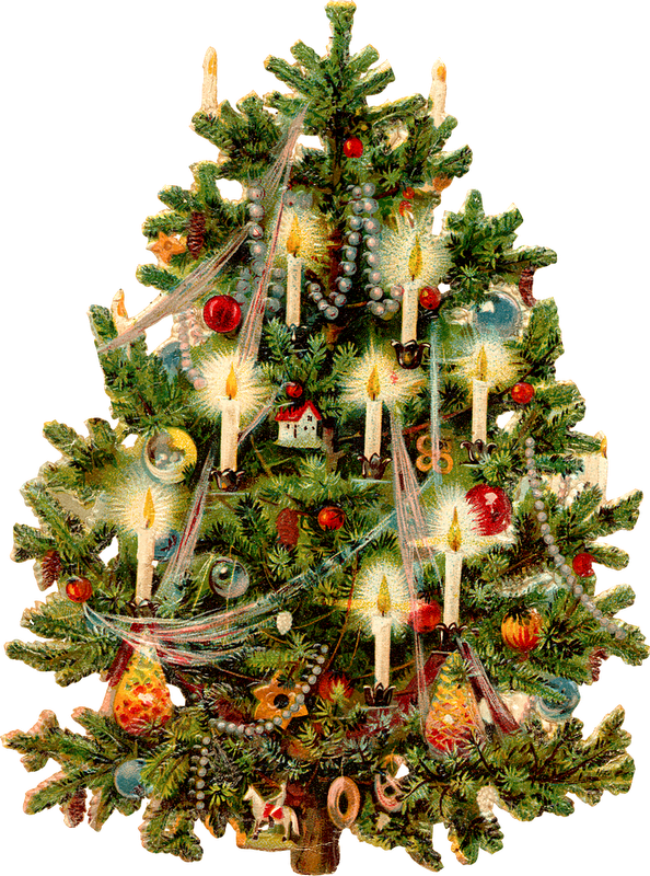 Png vintage christmas. Victorian tree printable pinterest