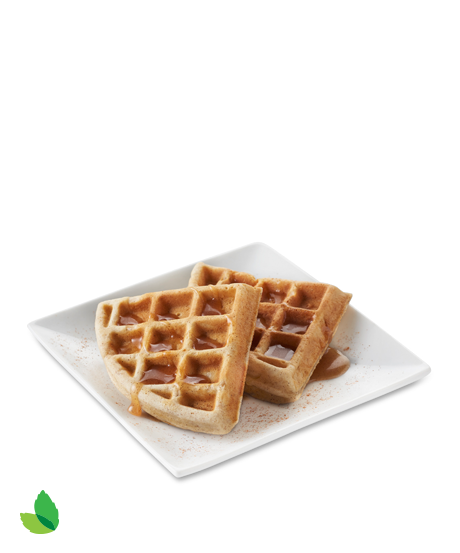 Waffles transparent brown sugar. Apple cinnamon waffle with