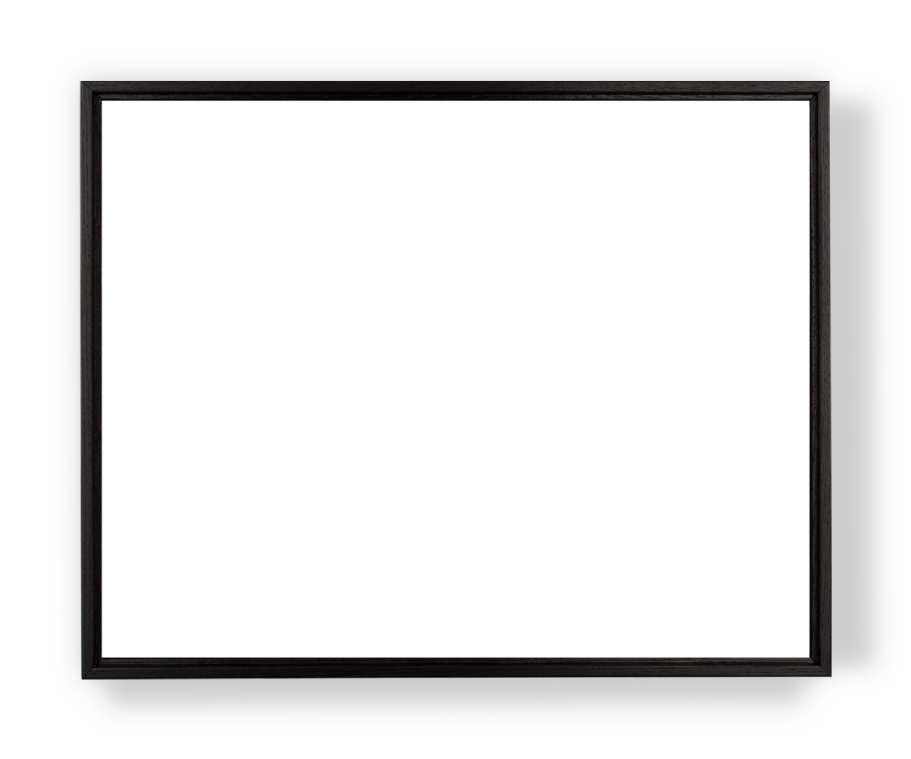Transparent photography blank. Framed canvas print black