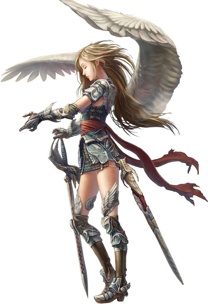 Warrior angel png. In armor by charmance