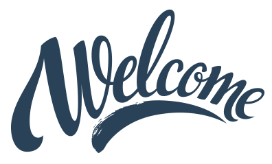 Transparent welcome. Png images in collection
