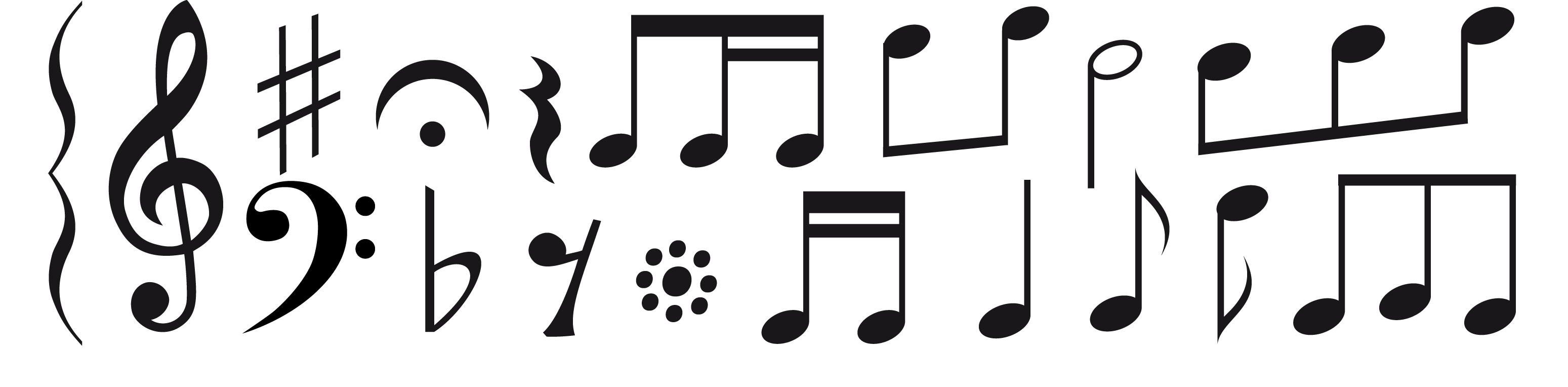 Png white music note. Musical sheet notation staff