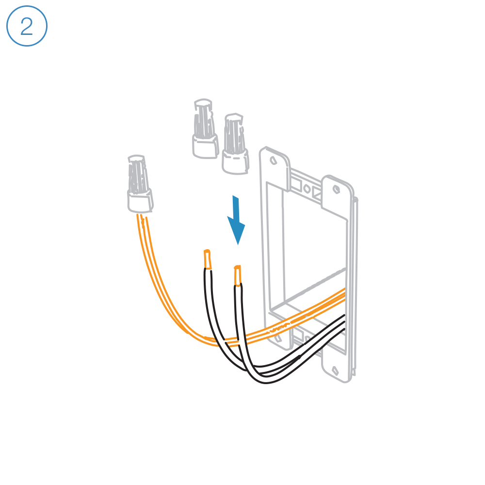 Transparent wires black. Dimmer switch wire setup
