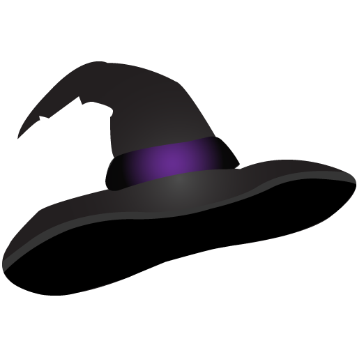 Png witch hat. Scary icon clipart image