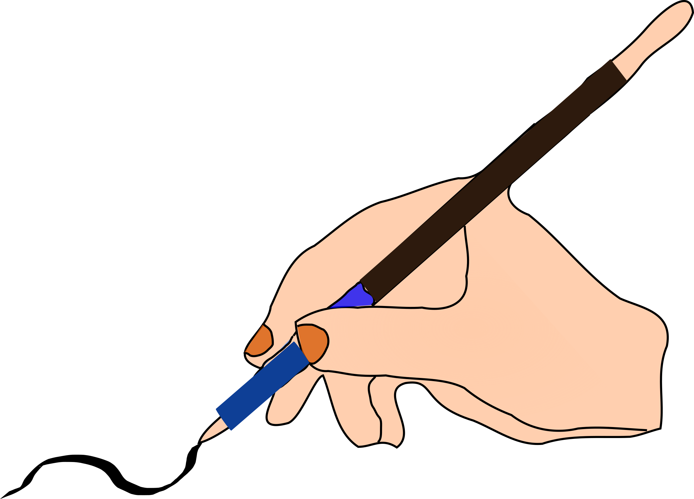Vector pens animated. Clipart write big image