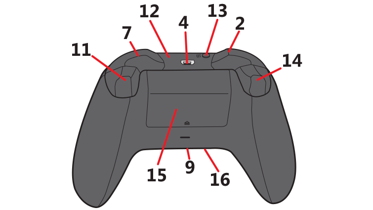 Png xbox buttons rt lt. One wireless controller back
