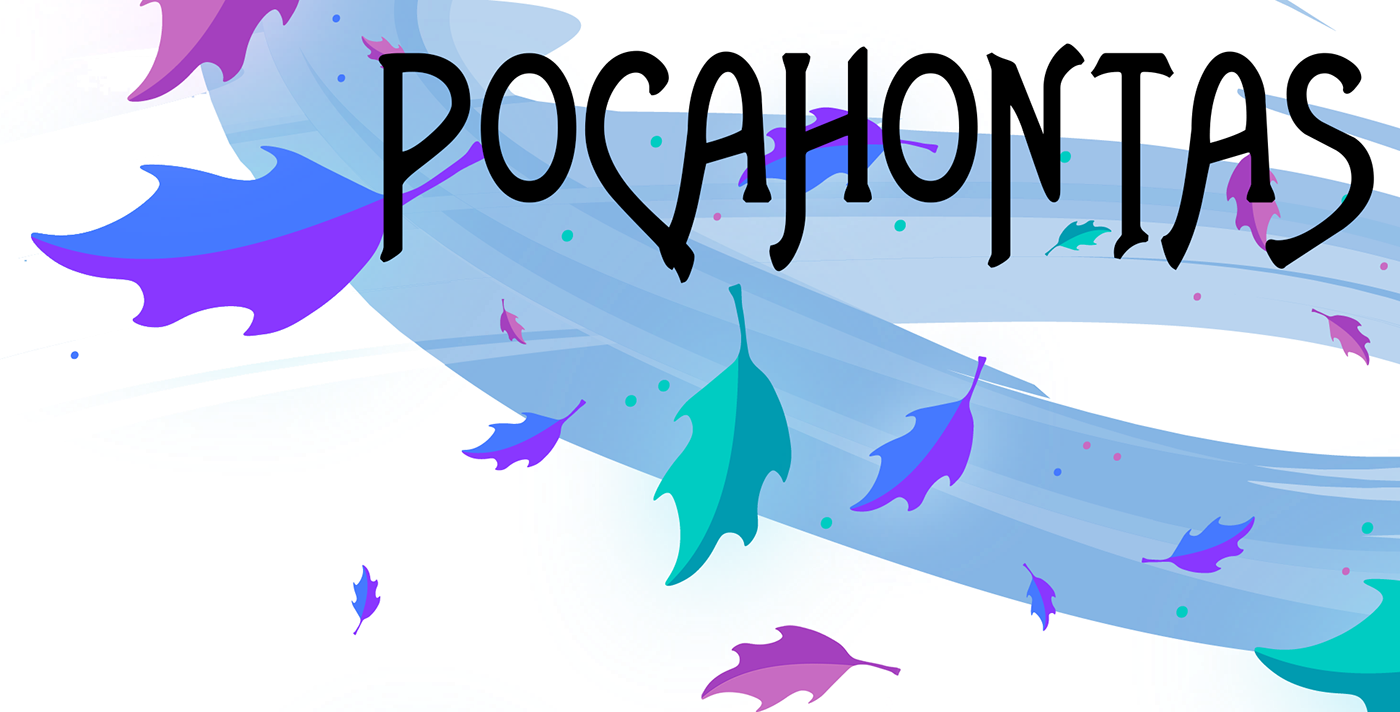 Pocahontas leaves png. Disney character vector illustration