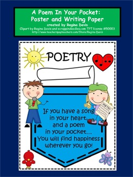 Pocket clipart poem in your pocket. Poetry writing paper teaching