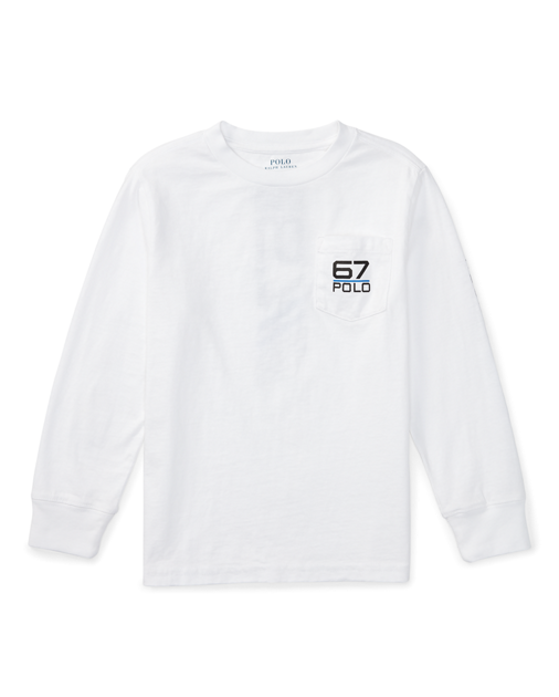 Pocket drawing tee. Cotton jersey