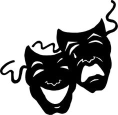 Comedy tragedy masks for. Poem clipart drama mask clipart free download