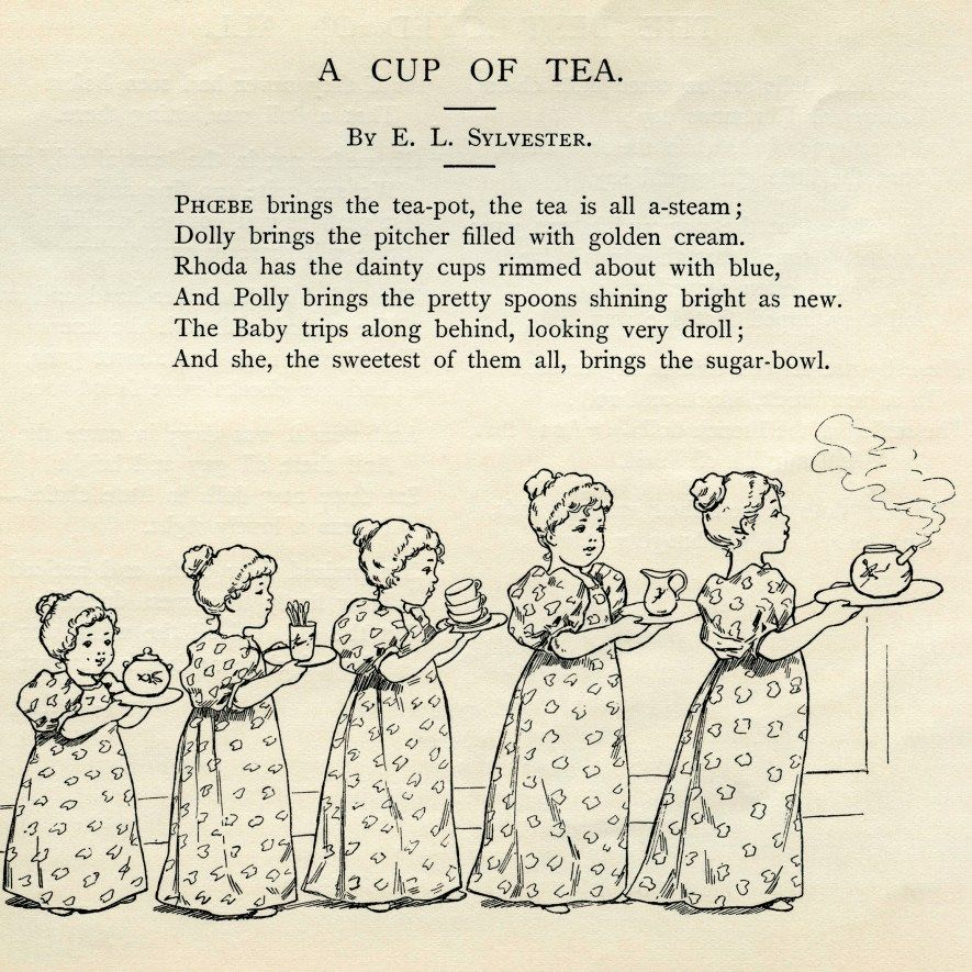 Poem clipart tea time. Clip art a cup