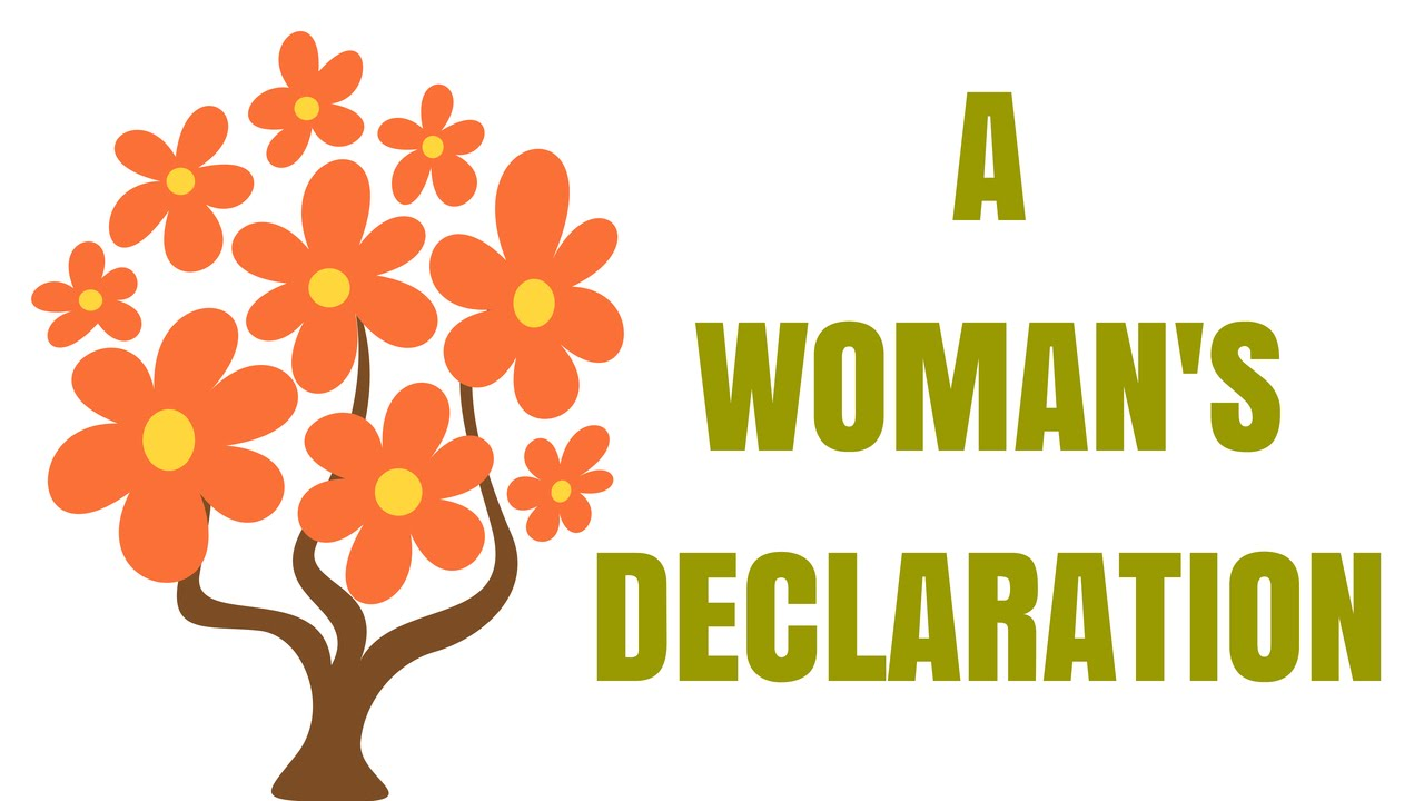 Poetry clipart declaration. A woman s an