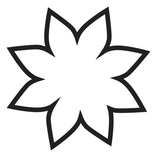 Poinsettia transparent svg. Flower outline icon png