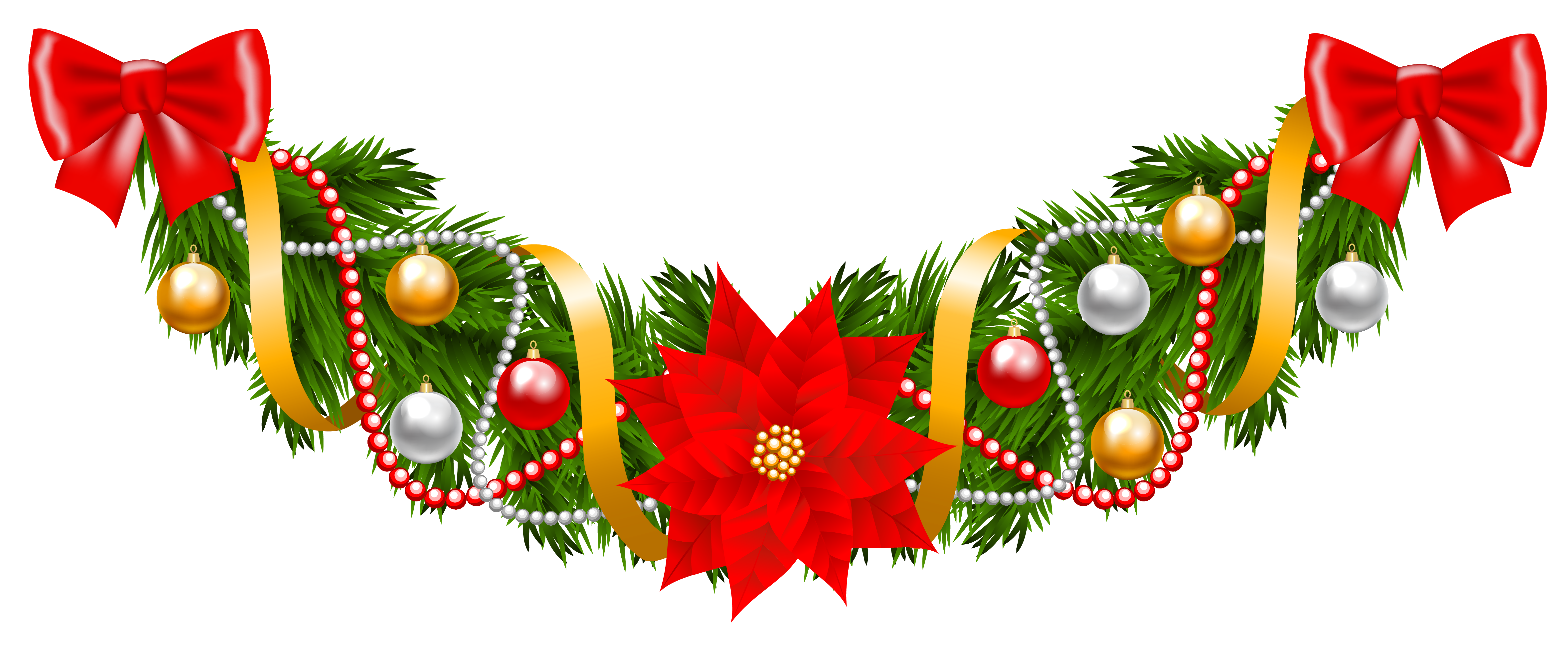 Poinsettia border png. Collection of free