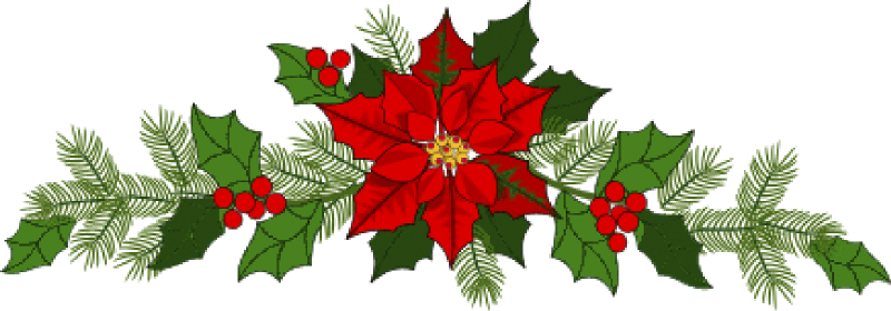 Poinsettia clipart divider. Leaf pencil and in