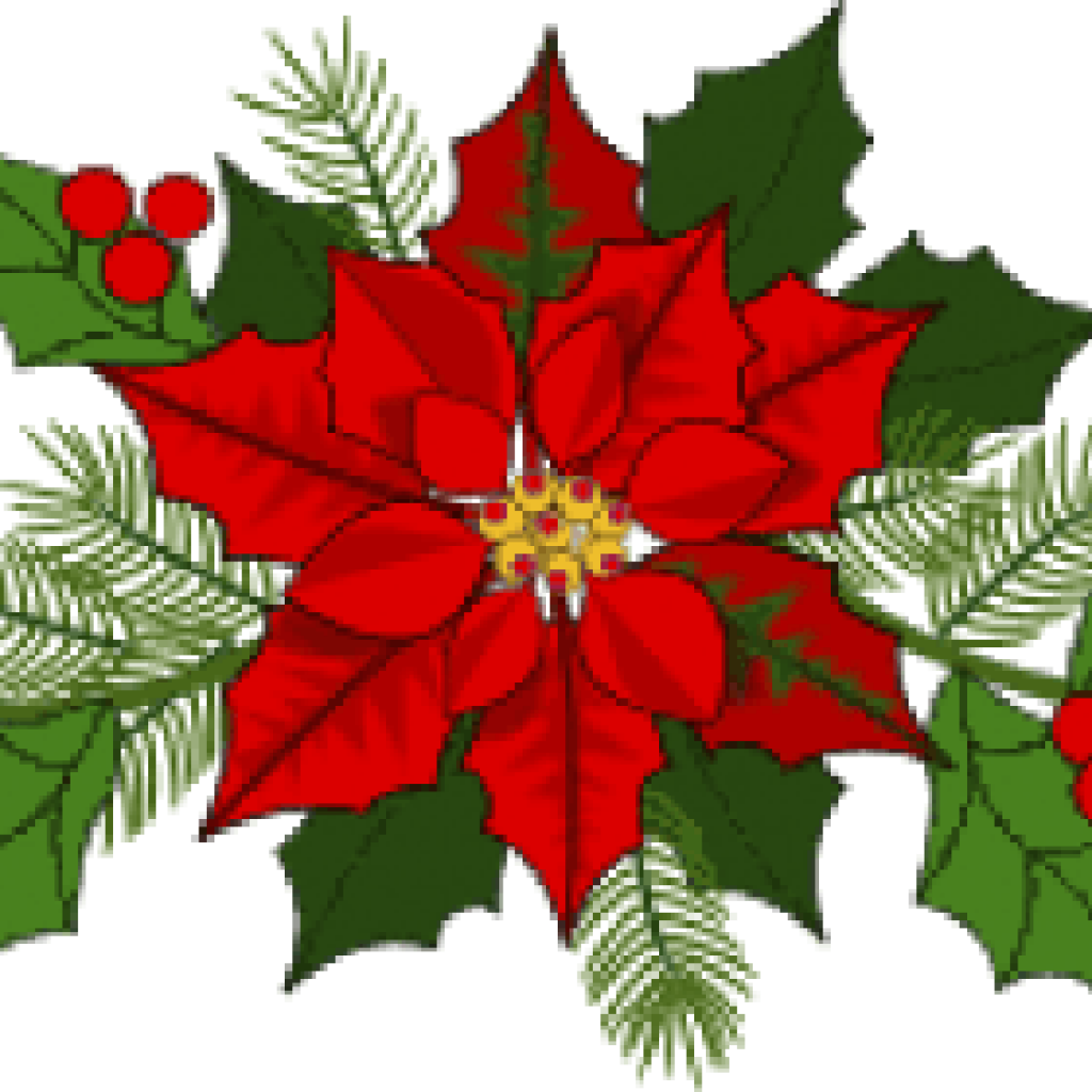 Poinsetta clip holiday flower. Poinsettia art free clipart