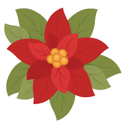 poinsetta clip red