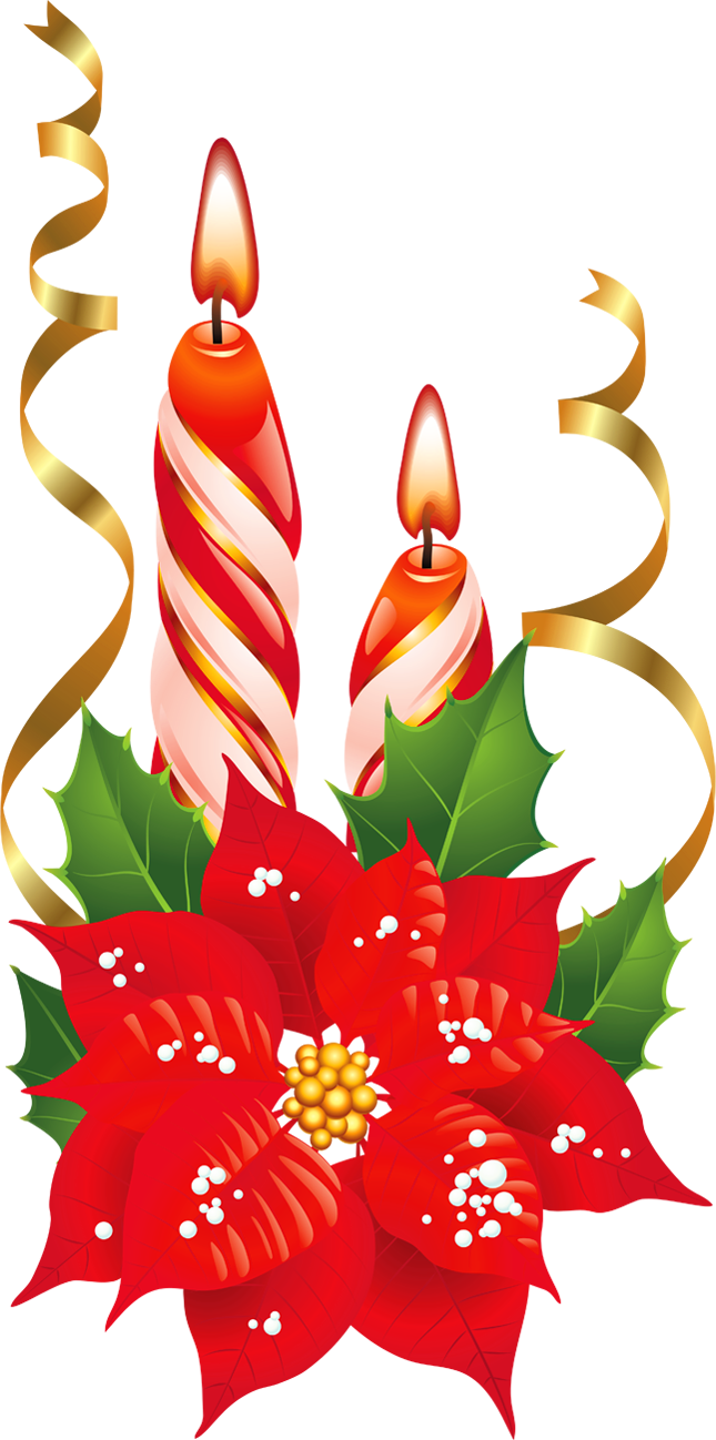 Poinsettia clipart yuletide. Christmas candle candles free