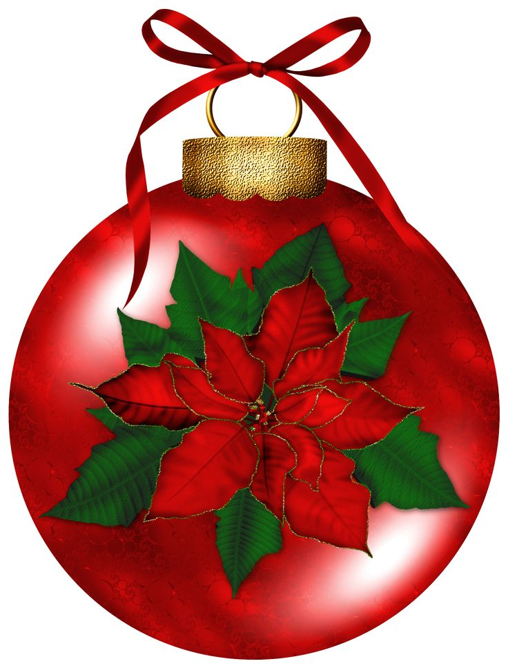 Poinsettia clipart yuletide. Best painted ornaments