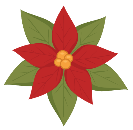 Poinsettia transparent svg. Cutting file christmas cut