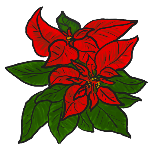 Poinsettia clip leaf. Free poinsettias cliparts download