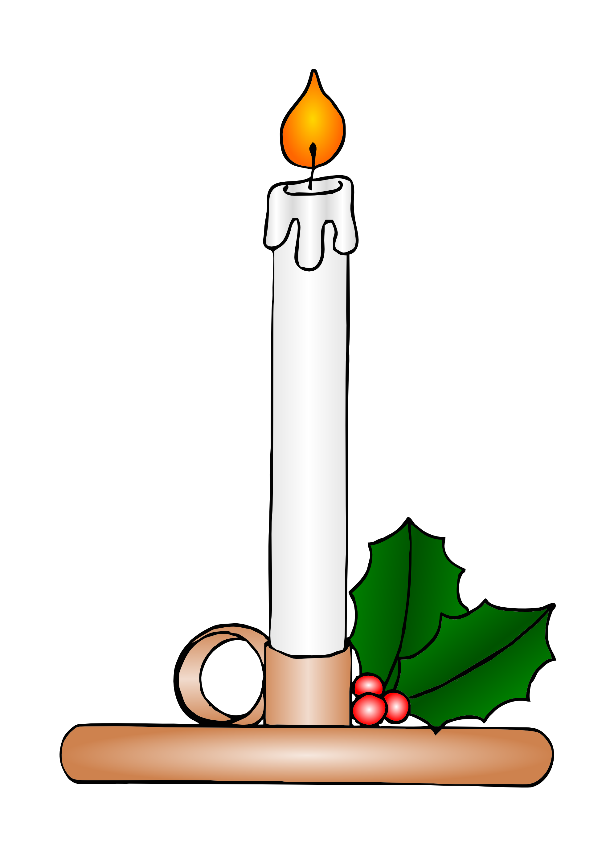 Candles clipart. Free picture of christmas