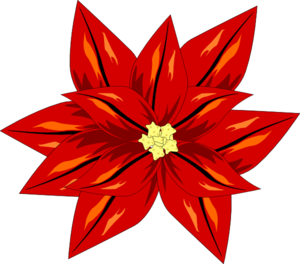 Poinsettia art at clker. Poinsetta clip graphic free