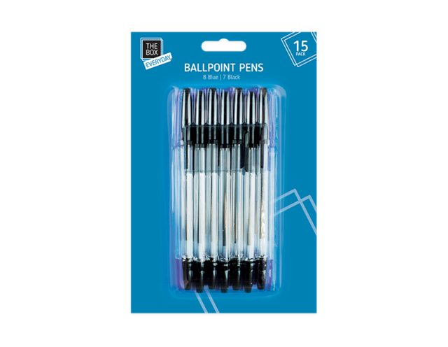 Point drawing biro. Pack of basic ball