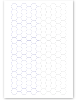 Hexagon Drawing Graph Paper Transparent & PNG Clipart Free Download