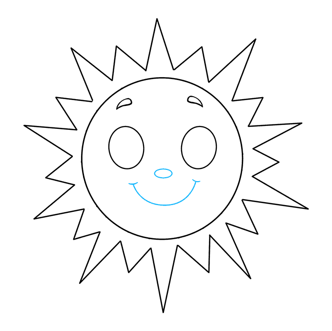 Sunlight drawing light line. How to draw a