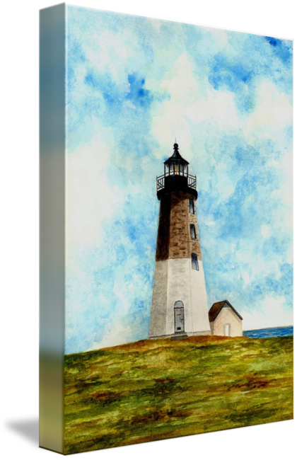 Point drawing lighthouse. Judith by michael vigliotti