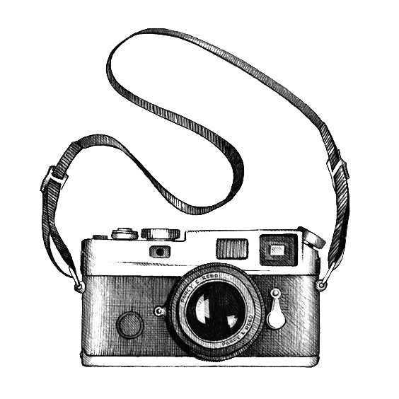 Checkered drawing camera. Photography clip art transprent