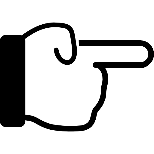Point finger png. Symbology right direction directional