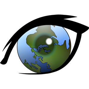 Point of view. Alternative world vision clipart