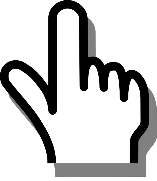 Pointed finger png. Pointing clip art at
