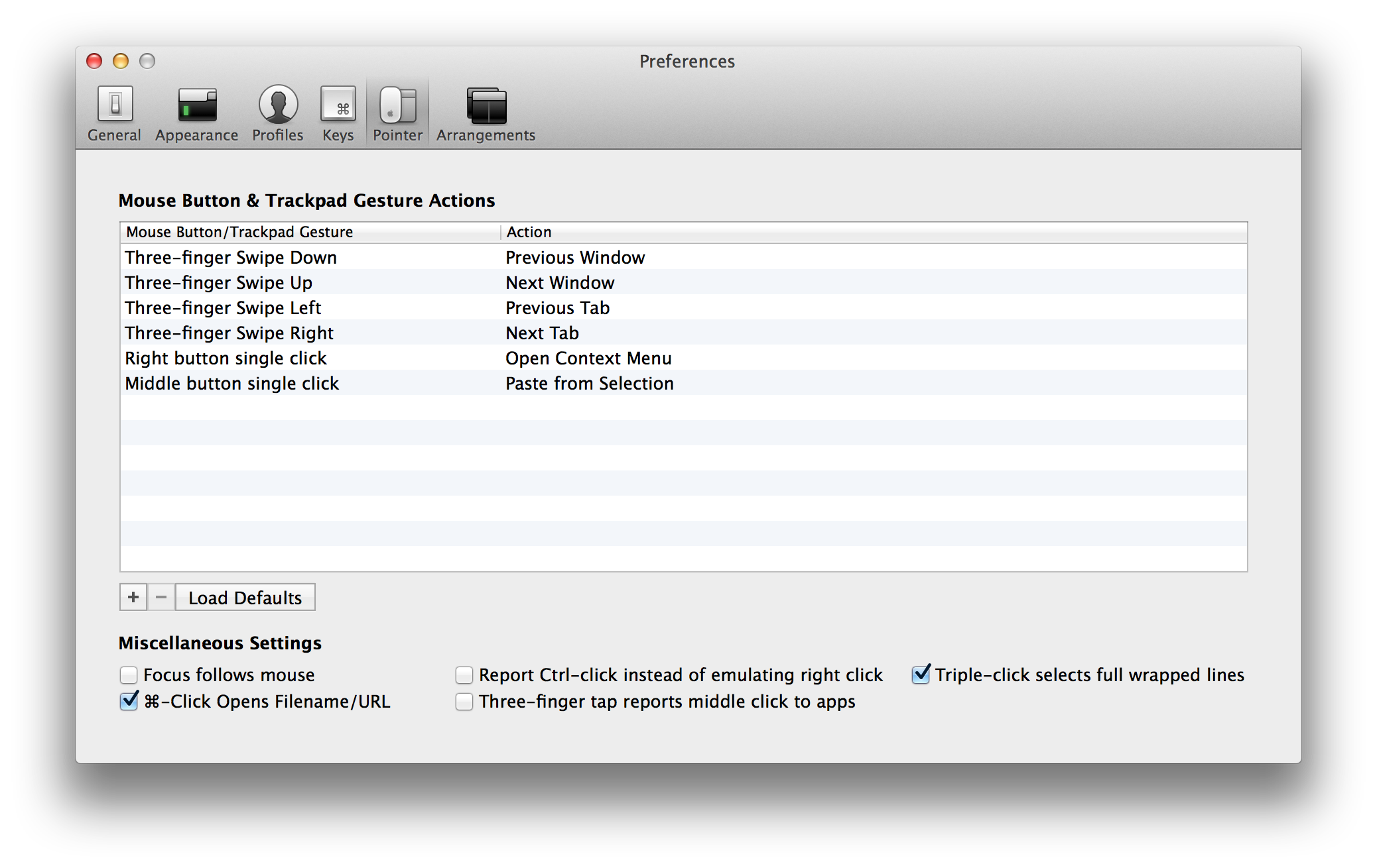 Pointer transparent macos. Features iterm terminal replacement