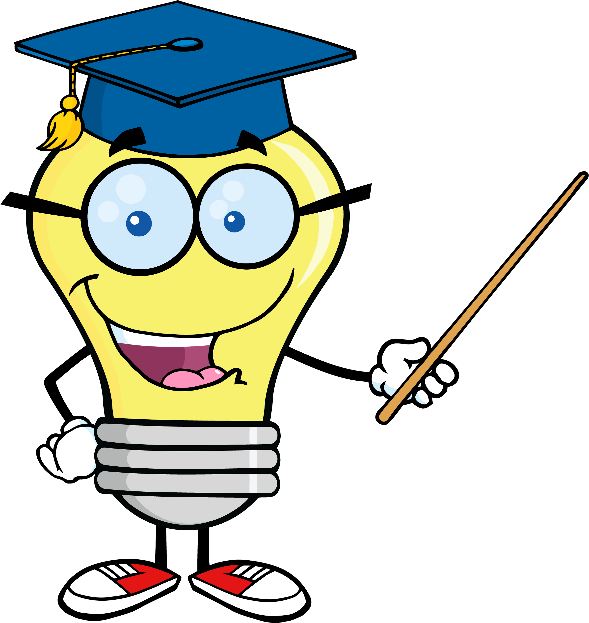 Transparent teacher character. Teaching pointer png image