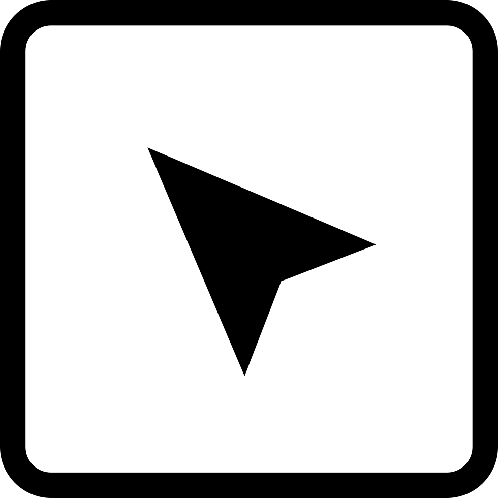 Pointing clipart pushing button. Arrow symbol upper left