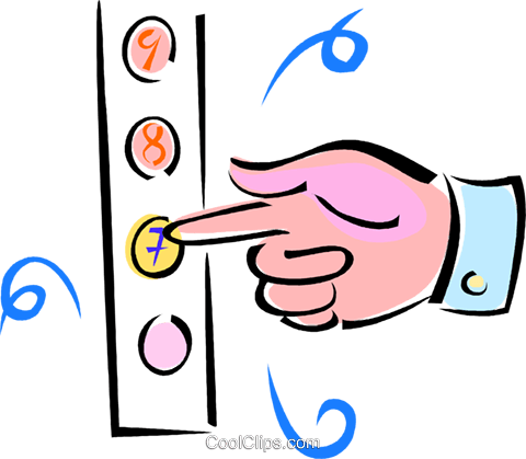 Pointing clipart pushing button. Download hd hand elevator