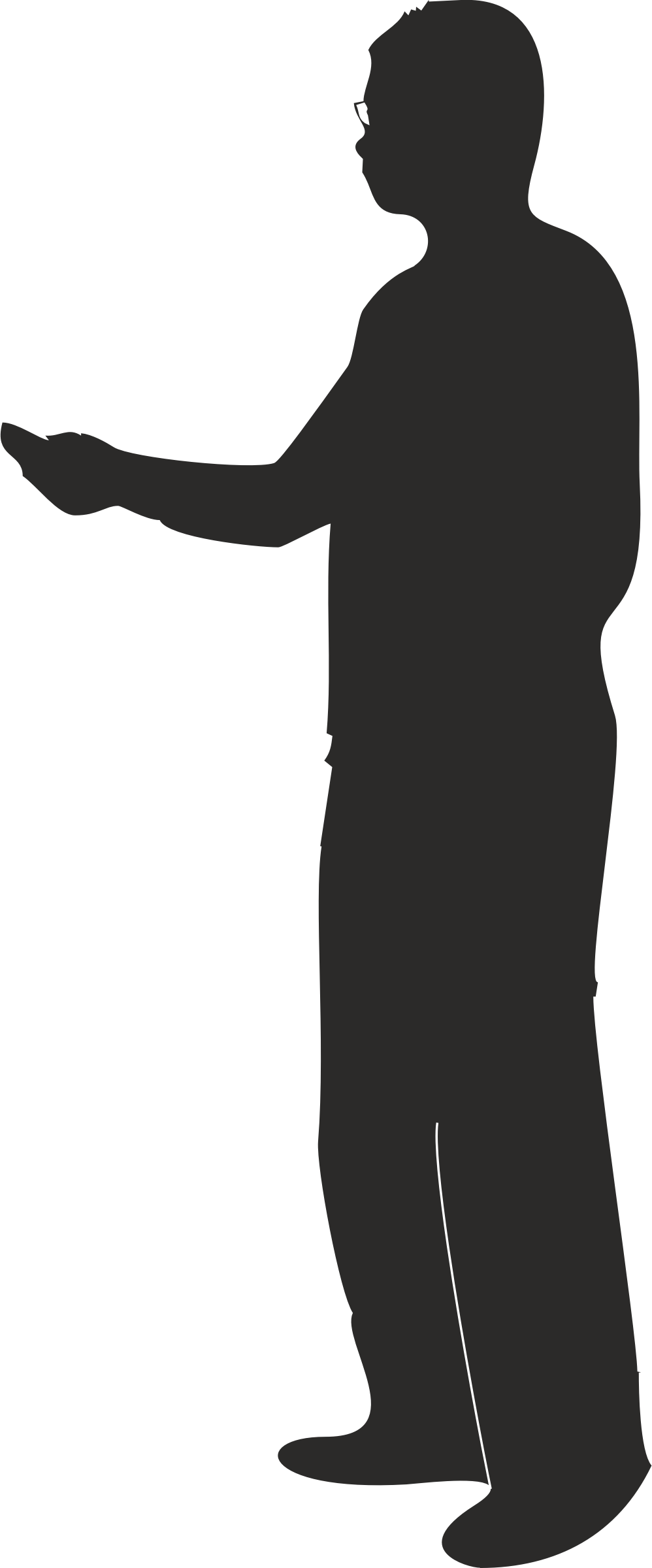 People pointing png. Clipart male silhouette presenting