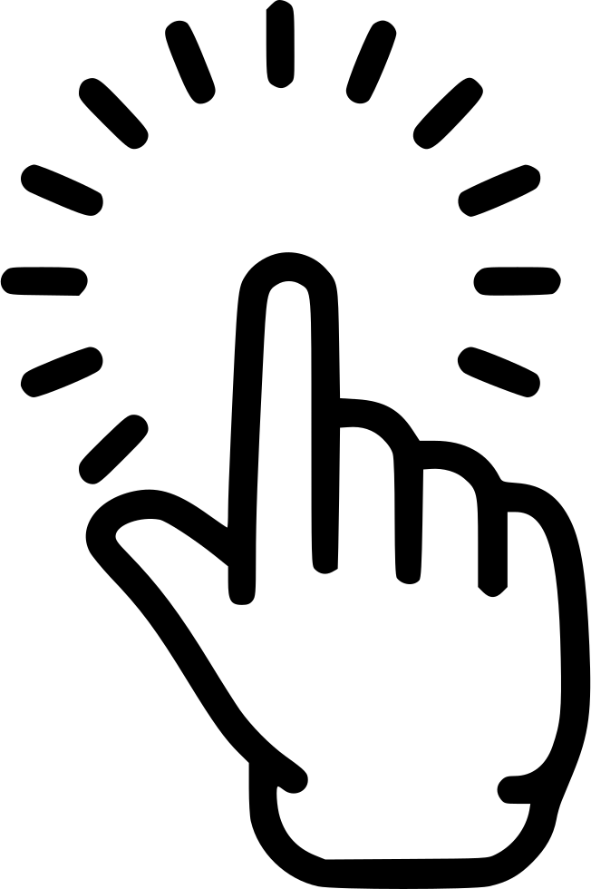 Pointing finger icon png. Point hand click touch