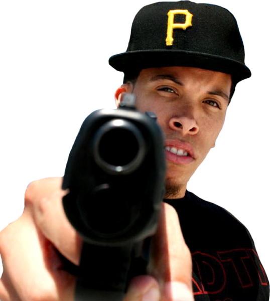 Pointing gun png. Young de psd official