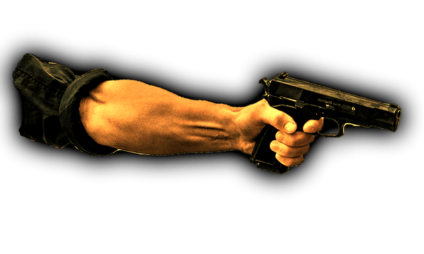 pointing gun png