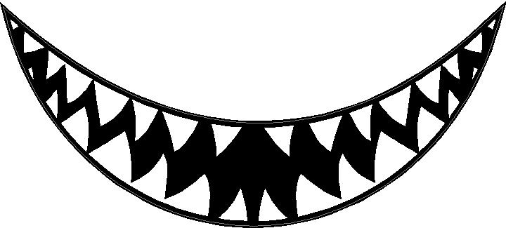 Pointy teeth. Collection of sharp clipart
