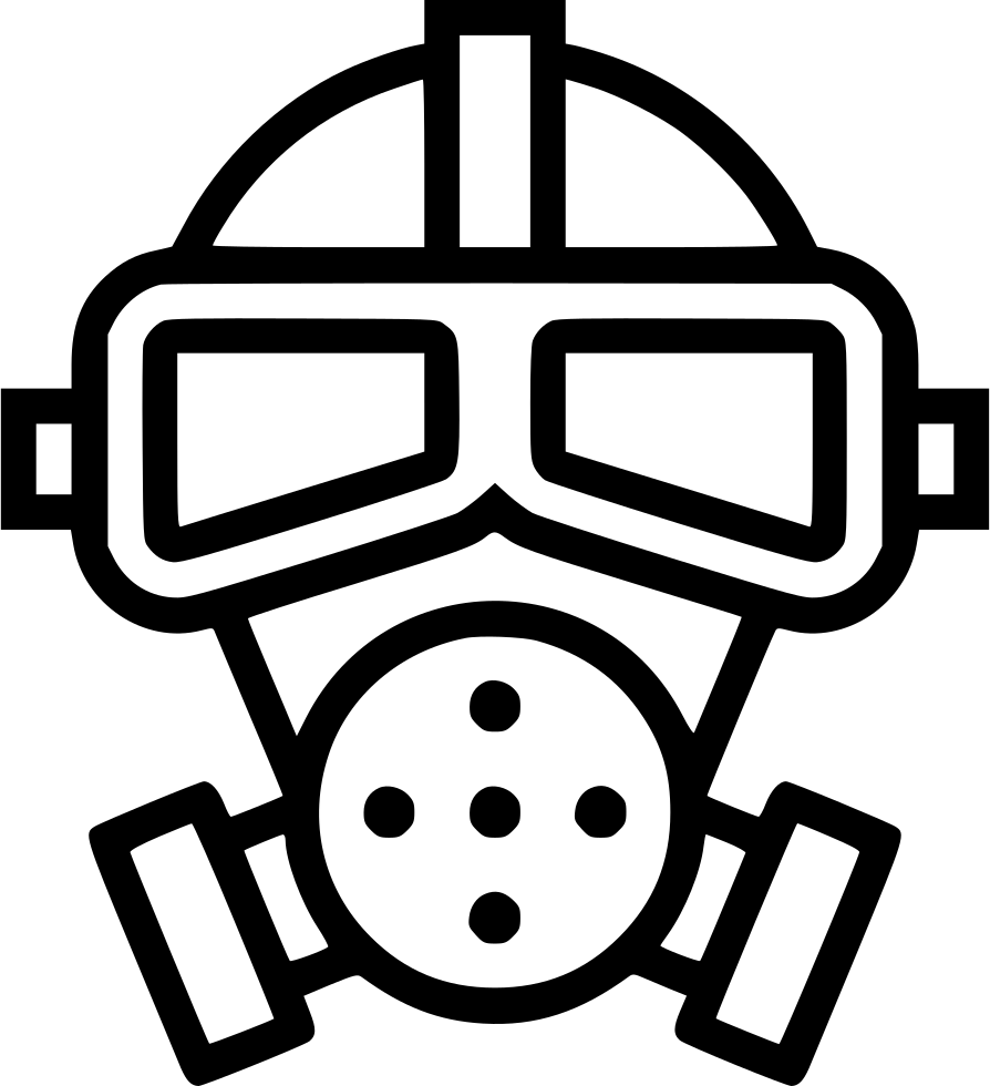 J drawing gas mask. Poison toxic svg png