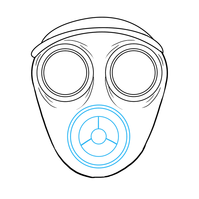 Poison clipart gas mask. How to draw a
