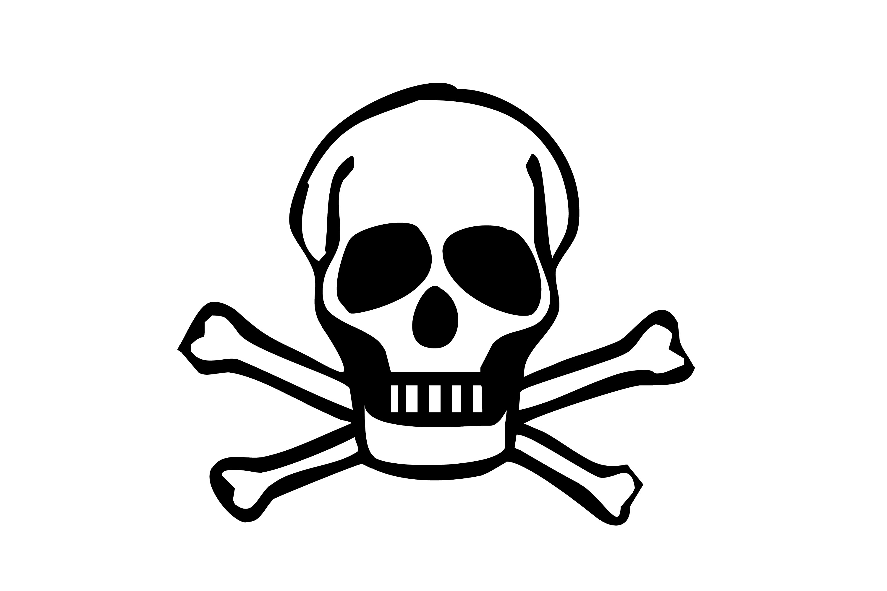 Poison clipart skeleton. Danger pencil and in