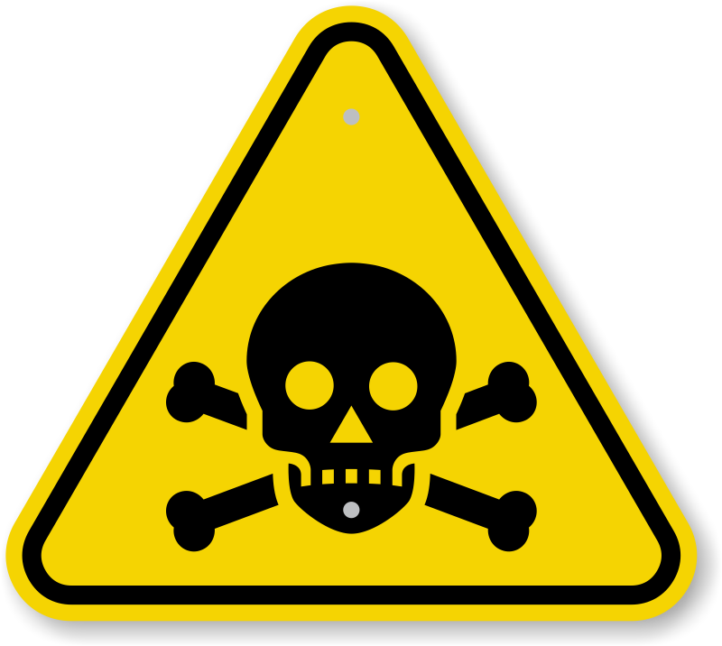 Iso poison warning sign. Toxic transparent image black and white download