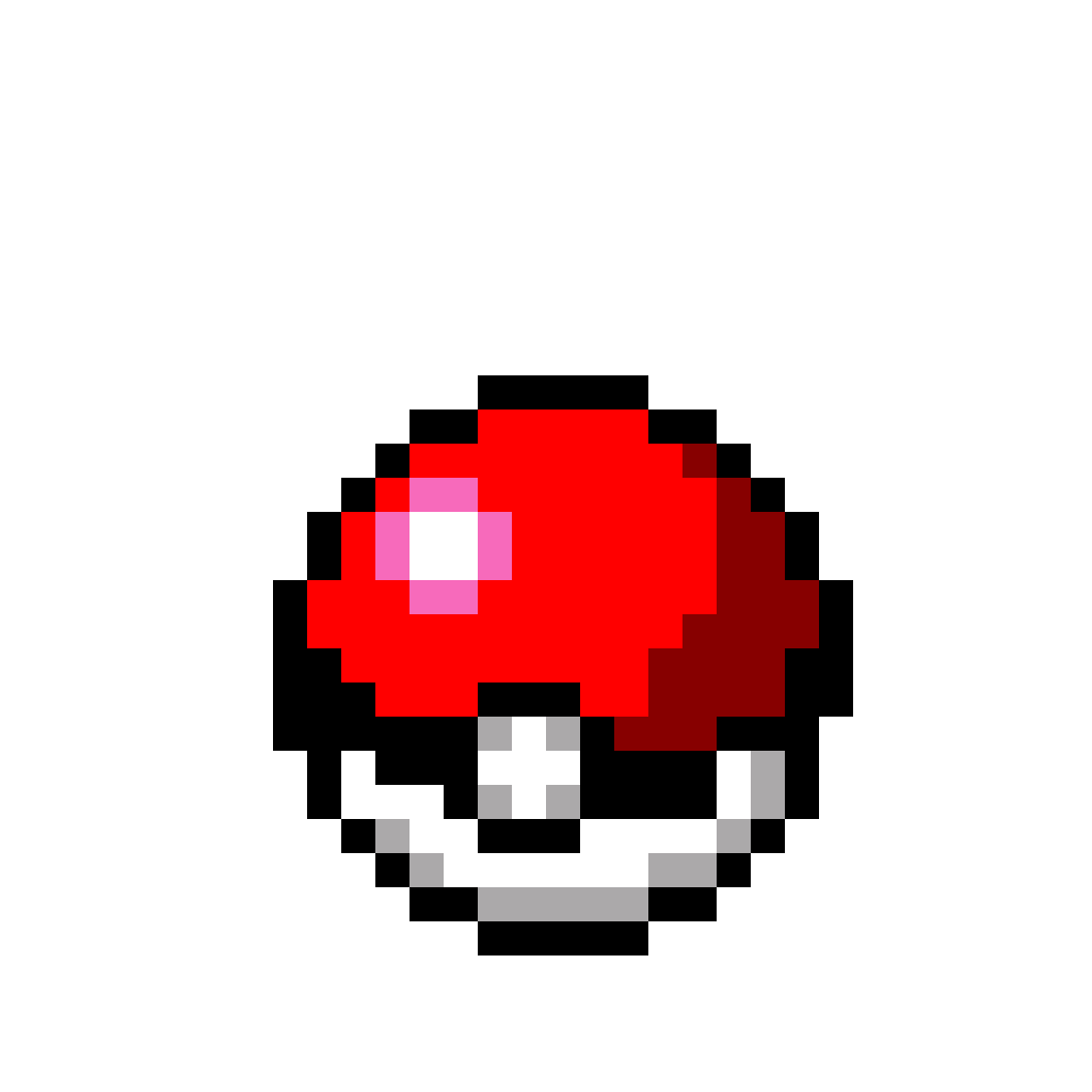 Pokeball pixel png. Bit by snowypuzzle