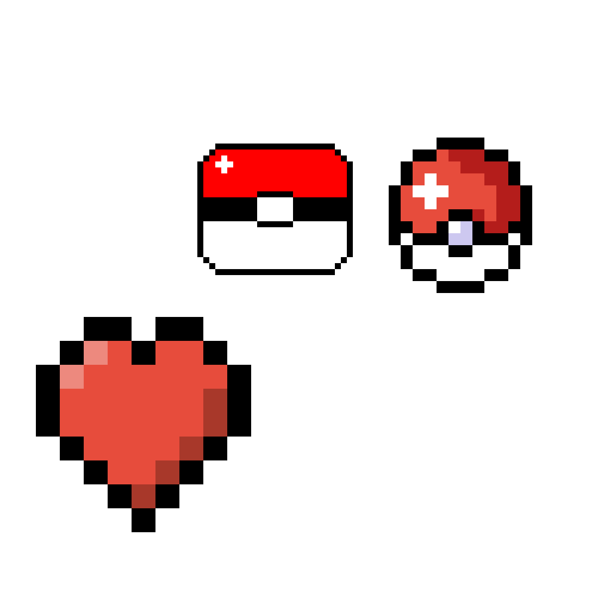 Pokeball pixel png. Art heart transprent free